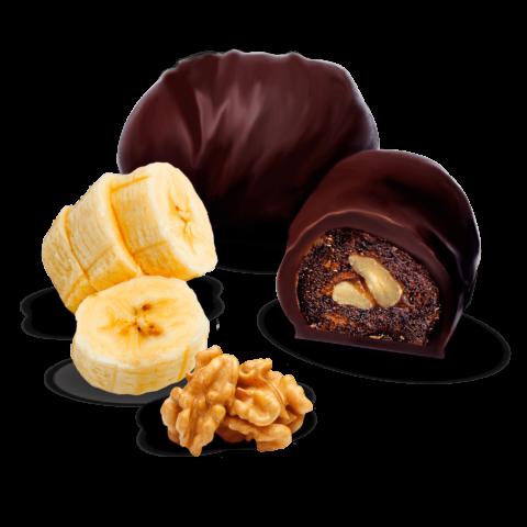Цукерки «Банан з горіхом у шоколаді»