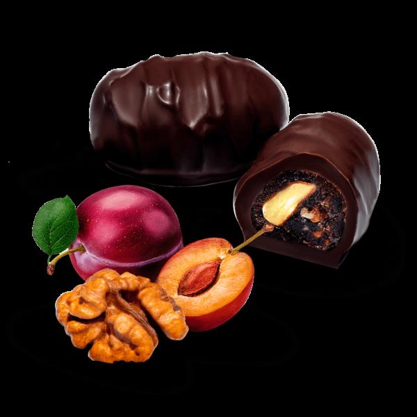 Цукерки «Чорнослив з горіхом у шоколаді»