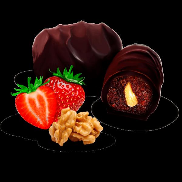 Цукерки «Полуниця з горіхом у шоколаді»